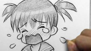 How Draw Chibi Crying
