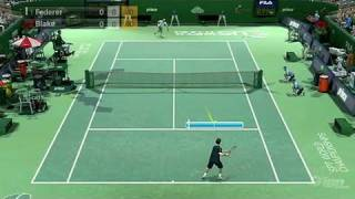 Virtua Tennis 2009 Nintendo Wii Gameplay - Federer vs Blake