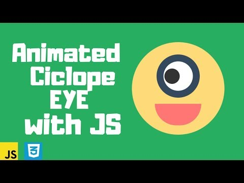 Animated Ciclope EYE Using HTML CSS & Javascript