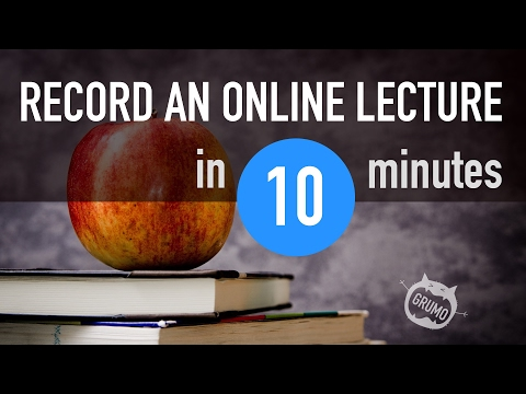 How To Record an Online Lecture (Tutorial + Complete Checklist)