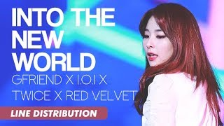 GFRIEND x I.O.I x TWICE x RED VELVET - Into The New World (Line Distribution)