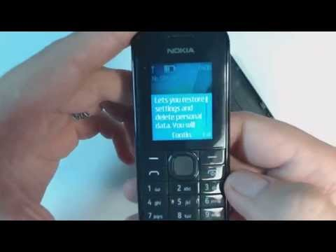 Nokia 113 factory reset