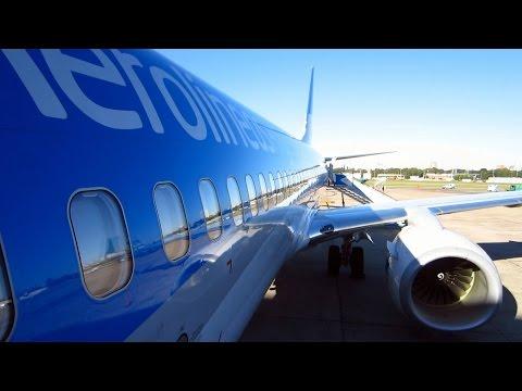 Boeing 737-800 Aerolineas Argentinas espectacular vuelo B. Aires-São Paulo + holding sobre playas