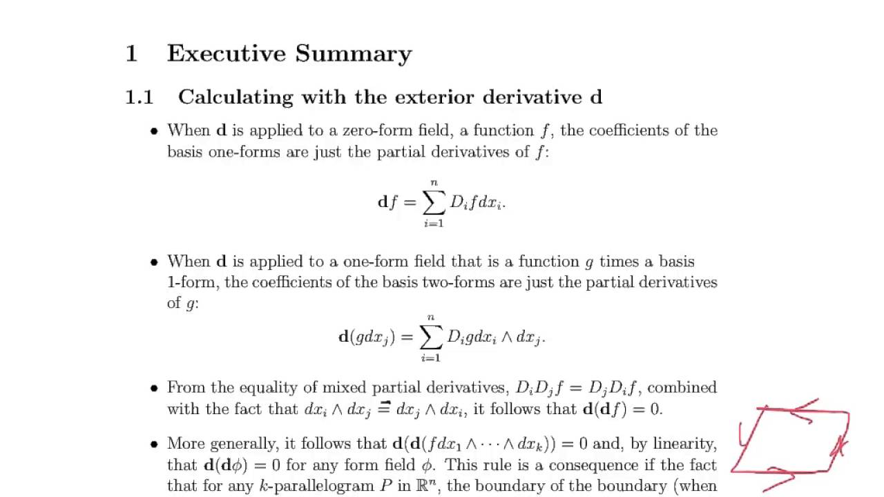 Week 12, Video 1: Exterior Derivative (24.1)   YouTube