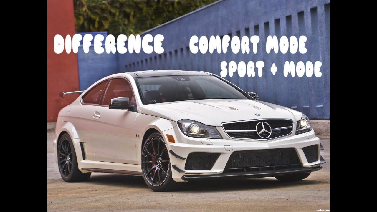 difference comfort mode and sport mode mercedes c63 amg