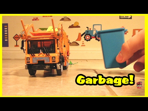 Garbage Truck Videos For Children l Picking Up Colorful TRASH Cans! l Garbage Trucks Rule