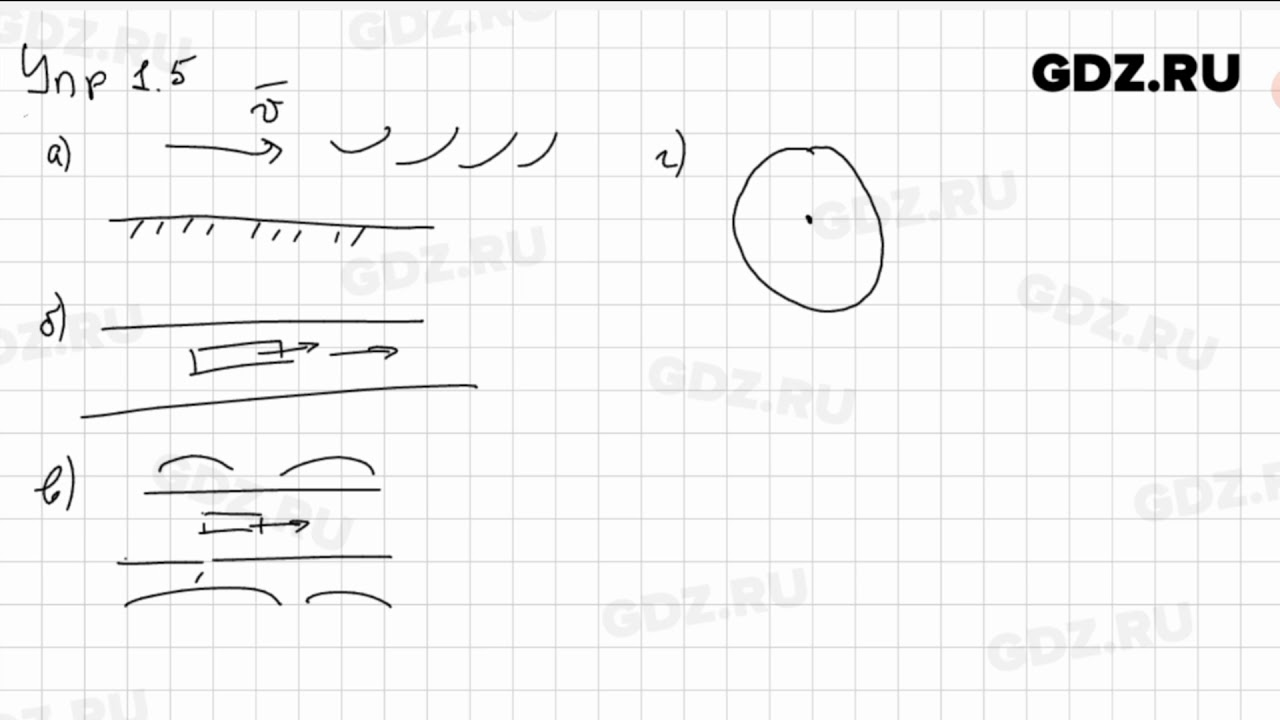 Упр 1.5 - Физика 9 класс Пёрышкин