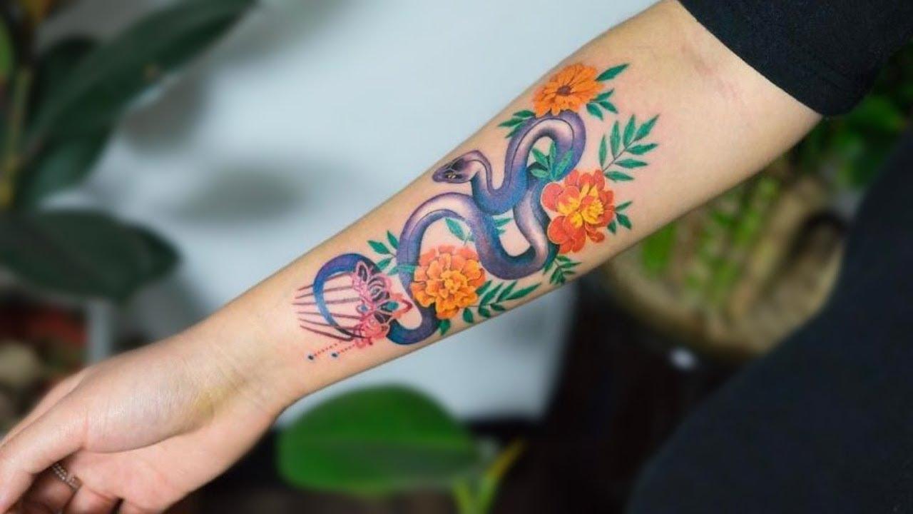 Incredible Snake Tattoos By Korean Tattoo Artist Zihee Youtube