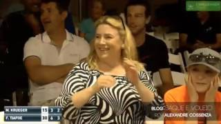Couple has sex during Tiafoe tennis match and everyone can hear it