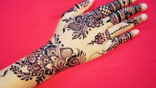 Beautiful Mehndi Design for Upper Hand #13   Shimmi