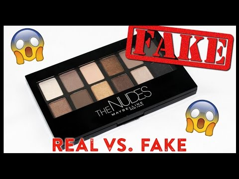 Real vs  Fake: 'The Nudes' Maybelline Palette