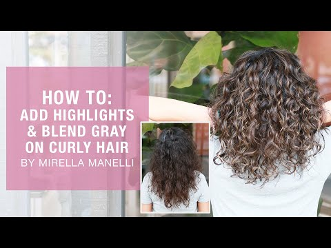 HOW TO Add Highlights And Blend Gray On Curly Hair By Mirella Manelli | Kenra Color