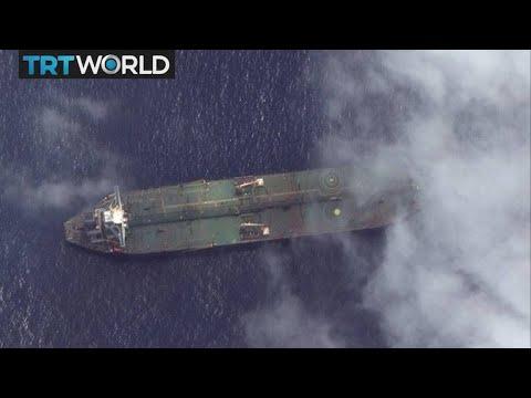 Iranian oil tanker on fire after blast