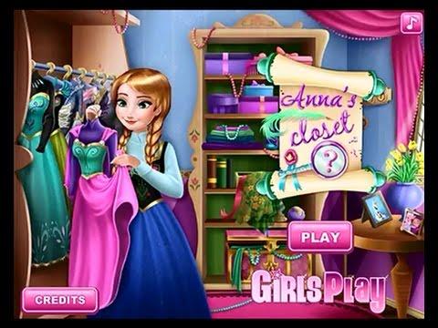 Анна Frozen Игры—Одевалки Анна из Холодное сердце—Онлайн Видео Игры Для Детей Мультфильм 2015