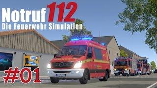 Let's Play NOTRUF 112 Teil 1 - Die ersten EINSÄTZE | Feuerwehr Simulation | Liongamer1