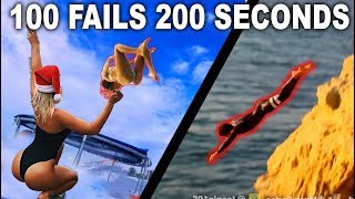 100 JOOGSQUAD FAILS IN 200 SECONDS!! (Trampoline Edition) | JOOGSQUAD PPJT