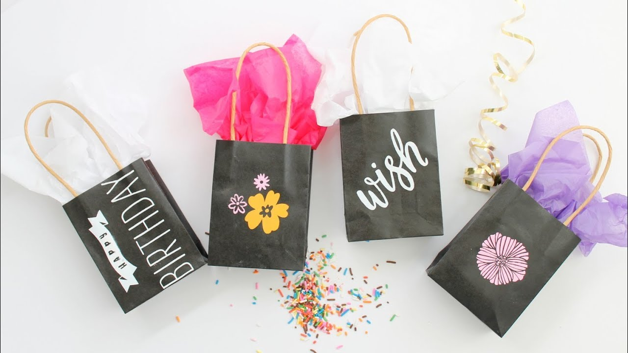 Making Custom Gift Bags With Chalk Couture