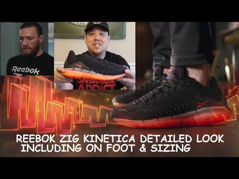 Conor McGregor Reebok Zig Kinetica Shoe Detailed Review + On
