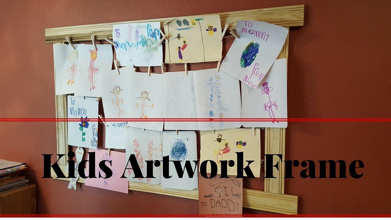 Kids Artwork Frame Wall Decoration Poplar DIY - YouTube