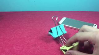 6 Awesome Ideas How to Make smart phone stand with Binder Clips