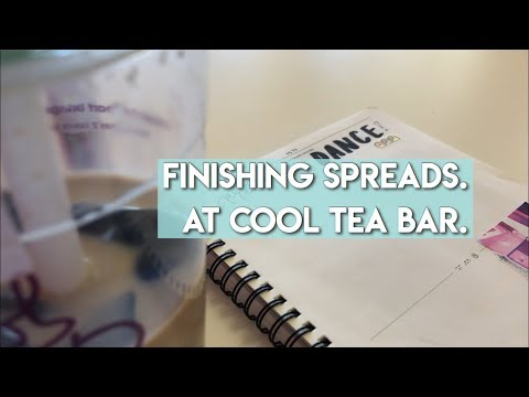 Finishing Spreads @ Cool Tea Bar | Kpop Journal With Me