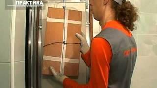 видео Монтаж двери сантехшкафа деревянной