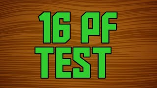 16 PF TEST || SCORING OF 16 PF || COMPLETE 16 PF TEST