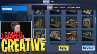 *NEW* FORTNITE CREATIVE MODE GAMEPLAY!! (SEASON 7 LEAKED)
