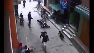Naked Cuple capture in  CCTV footage at the NEPAL/Earth Quake