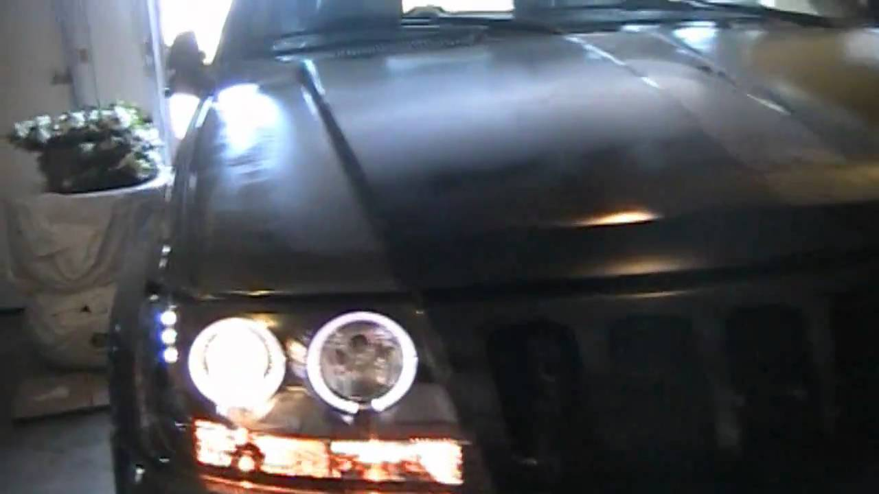 How To Install Projector Style Headlights With Leds And Halos On 03 Jeep Liberty Headlight Wiring The 1999 2004 Grand Cherokee Youtube