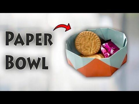 How to Make Bowl with Paper?