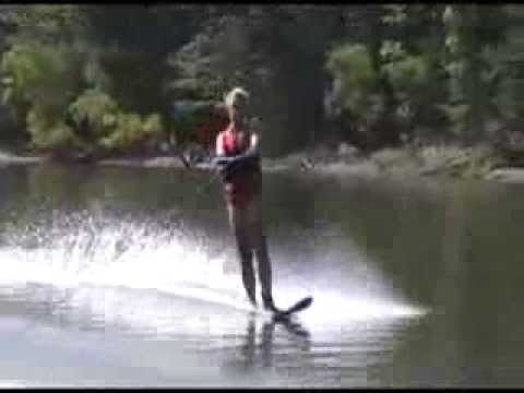 2013.8.19 Alison water skiing Berlin Lake!