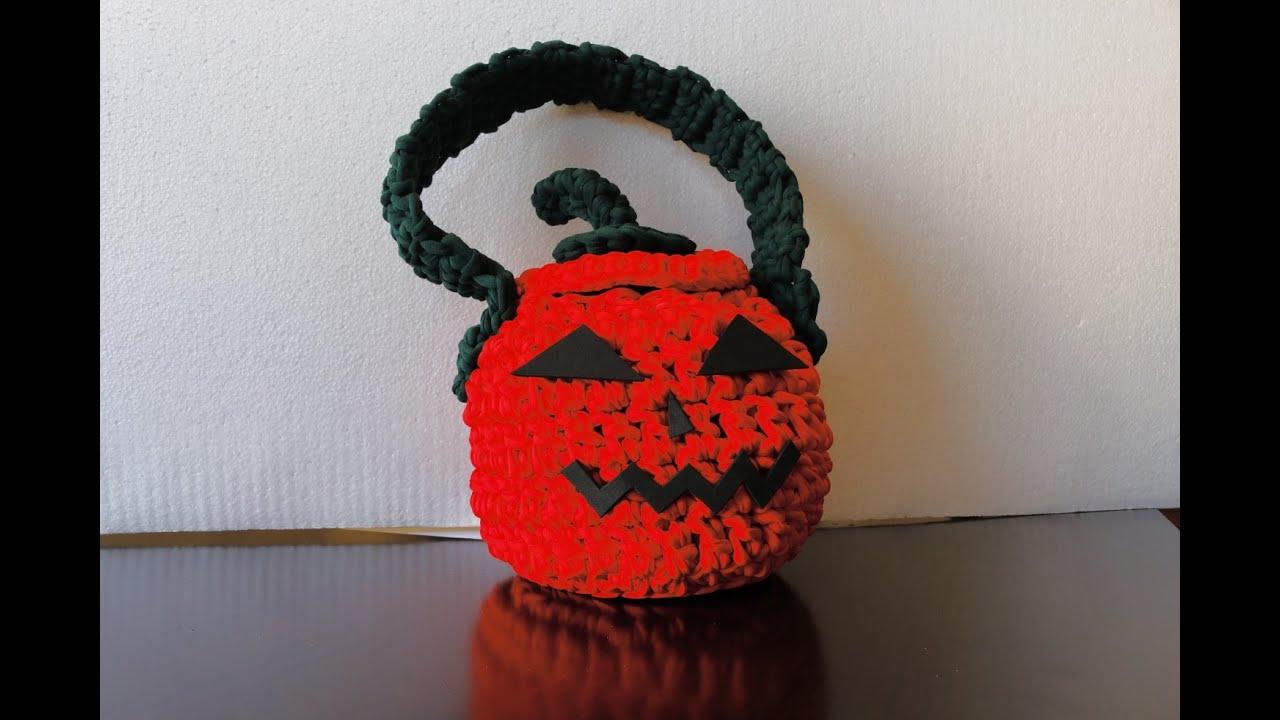 Como hacer bolso calabaza para halloween a crochet youtube - Como hacer calabazas de halloween ...