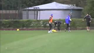 Chelsea FC  FUNNY MOMENTS AT TRAINING  .!!