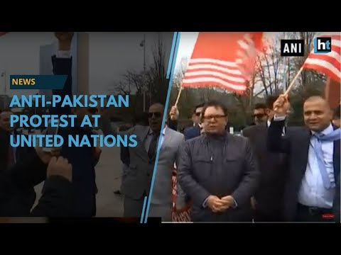 PoK activists held an anti-Pakistan protest at UN in Switzerland