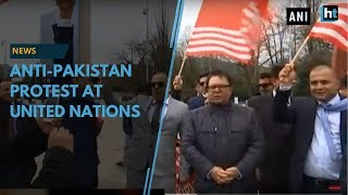 PoK activists held an anti-Pakistan protest at UN in Switzerland
