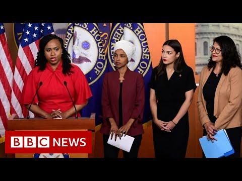 Congresswomen hit back in Trump race row - BBC News