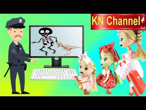 Đồ chơi trẻ em BÚP BÊ KN Channel XÉ ÁO PHAO TRÊN MÁY BAY tập 1 | BÀI HỌC SAU SỰ CỐ
