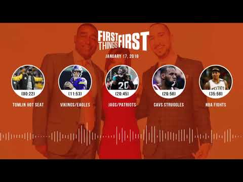 First Things First audio podcast (1.17.18) Cris Carter,Nick Wright,Jenna Wolfe | FIRST THINGS FIRST
