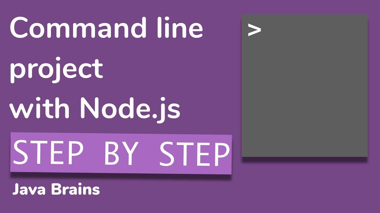 Writing command line script in Node.js from scratch - Node.js Basics [15] - Java Brains