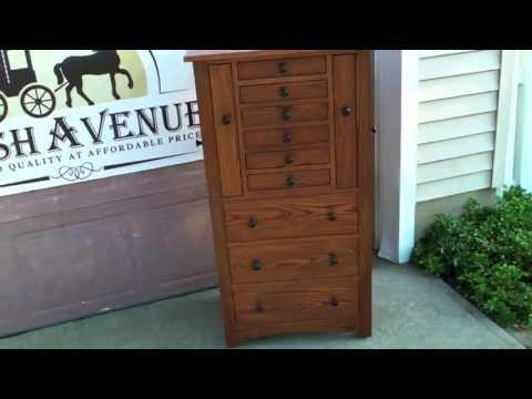 Amish Oak Jewelry Armoire