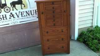 Amish Oak Jewelry Armoire