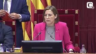 Los choques de Forcadell en el pleno del Parlament sobre la ley del referéndum