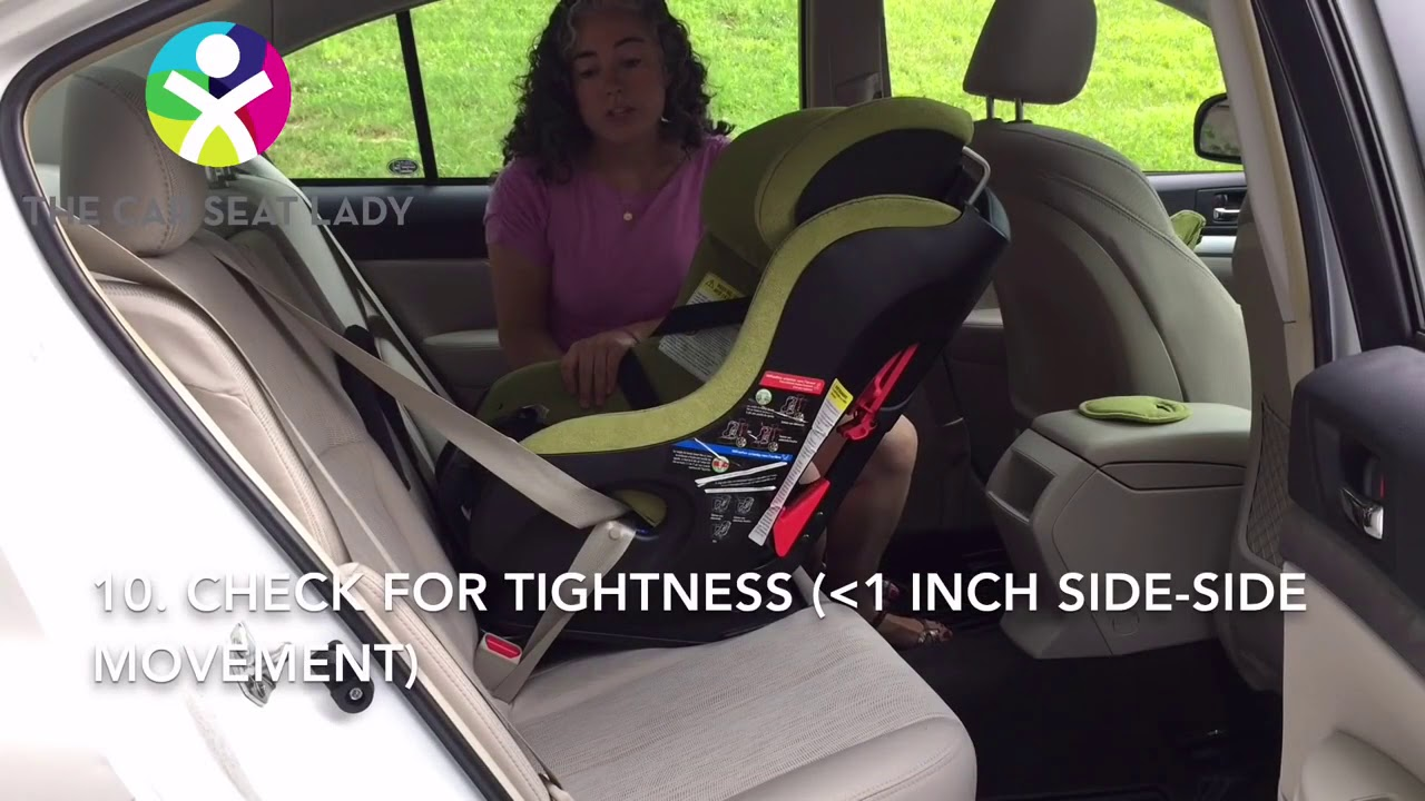 How To Install A Clek Fllo Rear Facing With Vehicles Shoulder Lap Belt