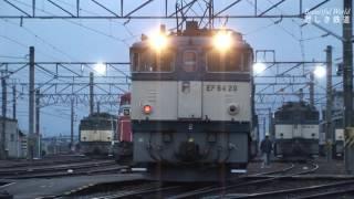 EF64形電機勢揃い 早朝のJR貨物塩尻機関区篠ノ井派出 HDV 950