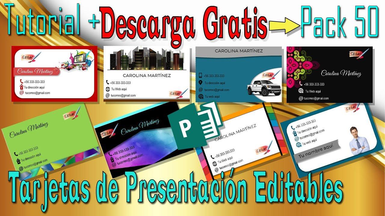 f2a9aa3c9b14f DESCARGA GRATIS Pack 50 Tarjetas de Presentación EDITABLES.Te Enseño cómo  Editarlas!