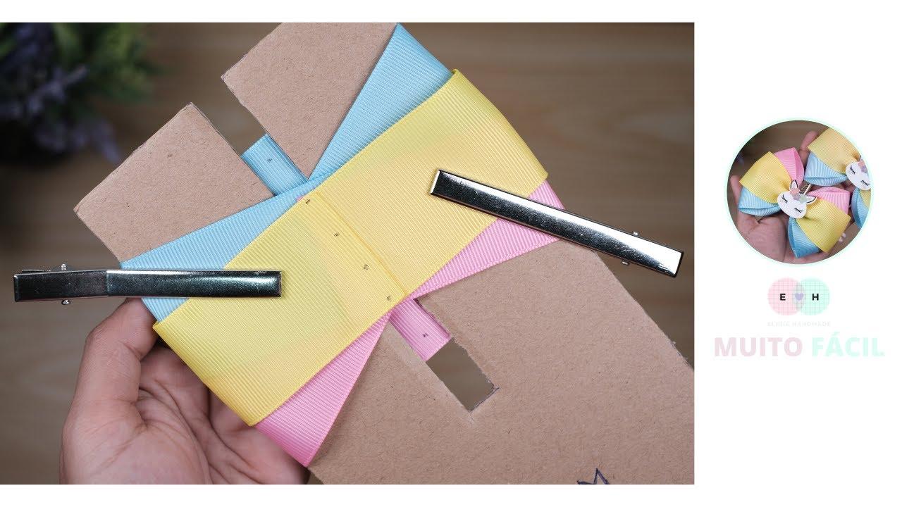 Um laço de três tons simples e fácil de fazer, a fita de gorgorão N9| Elysia Handmade