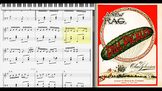 Dill Pickles by Charles L. Johnson (1906, Ragtime piano)