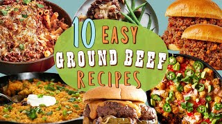 10 Easy And Filling Ground Beef Recipes | Ground Beef Dinner Recipe Compilation | Well Done