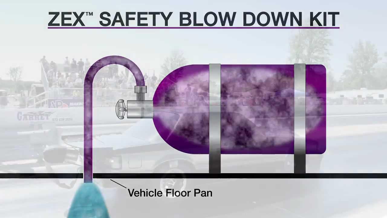 zex quick tech zex safety blow down kit install [ 1280 x 720 Pixel ]